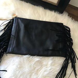 Deux Lux Black Fringe Clutch